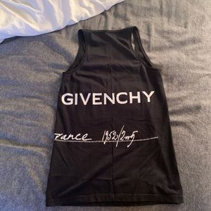 Givenchy logo tank top black and white